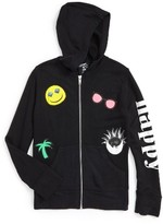 Flowers by Zoe Girl's Patches Zip Hoodie