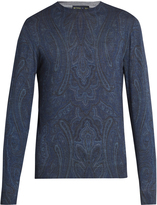 Etro Paisley-print wool-blend sweater