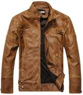 Summer6688 Fashion Motorcycle PU Leather Clothing Men's Leather Jacket
