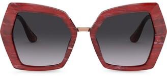 Dolce & Gabbana Monogram oversized-frame sunglasses