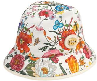 Gucci Flora Print Bucket Hat