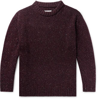 Maison Margiela Oversized Donegal Wool-Blend Sweater
