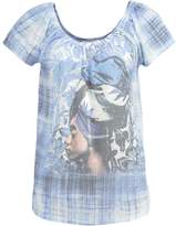Cream MGALA Print Tshirt royal navy blue