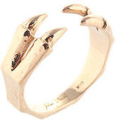 Julien David 10kt Yellow Gold Claw Ring Adjustable Size 7.5 $360 New 74251