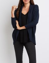 Charlotte Russe Textured Cocoon Cardigan