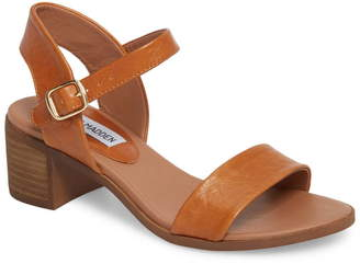 Steve Madden April Block Heel Leather Sandal