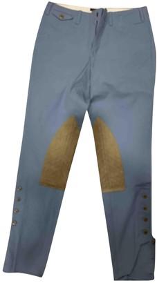 Ralph Lauren Blue Leather Trousers