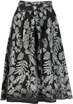 Natori botanical A-line skirt