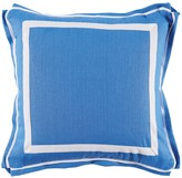 The Well Appointed House Royal Blue Linen Pillow with White Twill Tape