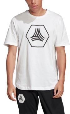 adidas Men's Tan Big Logo Tee