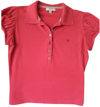 Burberry Burgundy Cotton Top for Women