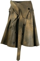 John Galliano Pre Owned twirled double-fastened skirt