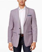 Tallia Men's Big and Tall Slim-Fit Pink/Gray Seersucker Cotton Sport Coat