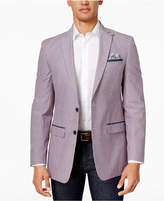 Tallia Men's Big & Tall Slim-Fit Pink/Gray Seersucker Cotton Sport Coat