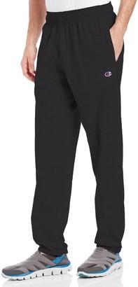 Champion mensP7310Closed Bottom Light Weight Jersey Sweatpant Pants - Black - Large