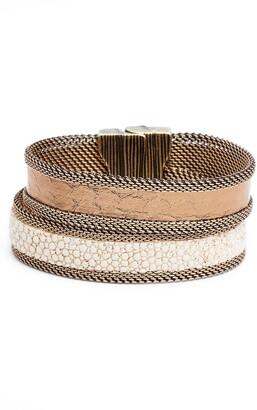 Cynthia Desser Shimmer Stingray & Snakeskin Bracelet