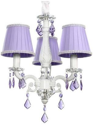 Firefly Home & Kids Lighting Charlotte Purple Chandelier, 3-Lights