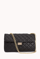 Forever 21 Quilted Faux Leather Shoulder Bag