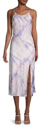 ASTR the Label Tie-Dyed Midi Dress