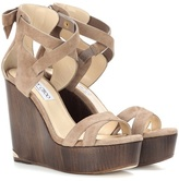 Jimmy Choo Naomi 120 suede wedges