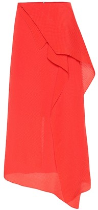 Roland Mouret Courtown silk jacquard midi skirt
