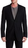 Zanetti Catania Black Two Button Notch Lapel Trim Fit Wool Sport Coat