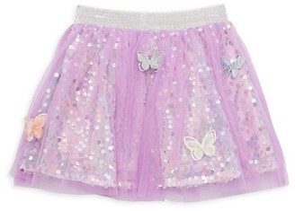 Baby Sara By Sara Sara Little Girl's Butterfly Sequin Tulle Skirt