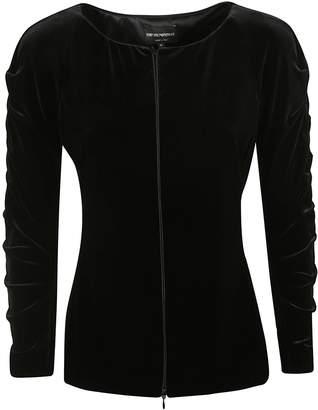 Emporio Armani Concealed Zipped Cardigan