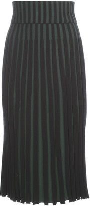 Kenzo Ribbed-Knit Pleated Skirt