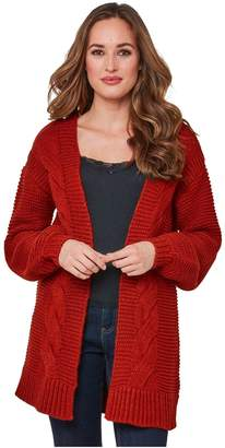 Joe Browns Chunky Cable Cardigan - Red
