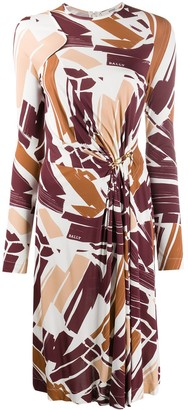 Bally Painterly Print Midi Dress