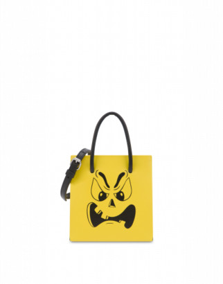 Moschino Pumpkin Face Handbag Woman Yellow Size U It - (one Size Us)