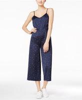 Kensie Star-Print Cropped Jumpsuit