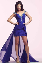 Mac Duggal 64722 V Neck Gown in Royal