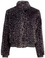 Generation Love Heidi Leopard Print Faux Fur Bomber Jacket