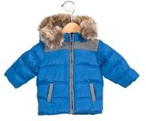 Tartine et Chocolat Boys' Faux Fur-Trimmed Puffer Coat