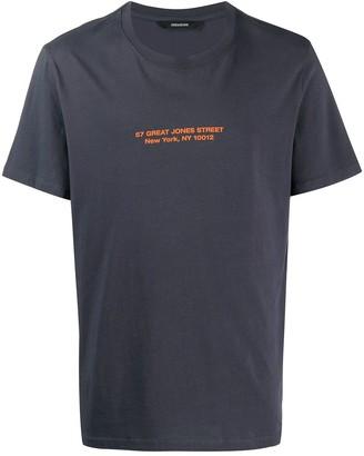Zadig & Voltaire address print short sleeve T-shirt