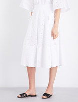 Co Broderie anglaise bell cotton skirt
