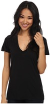 Splendid Very Light Jersey S/S V-Neck Women's T Shirt