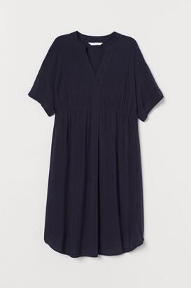 H&M MAMA V-neck Dress - Blue