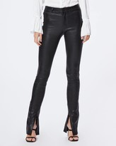 Paige CONSTANCE LEATHER SKINNY-BLACK