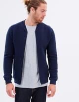 Knowledge Cotton Apparel Diagonal Zip Cardigan