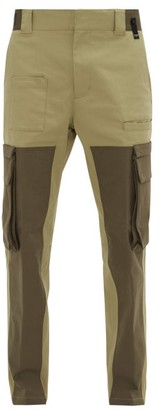 Fendi Panelled Cotton-blend Cargo Trousers - Green