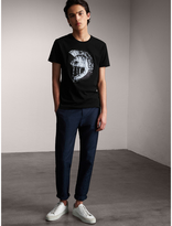 Burberry Pallas Helmet Print Cotton T-shirt