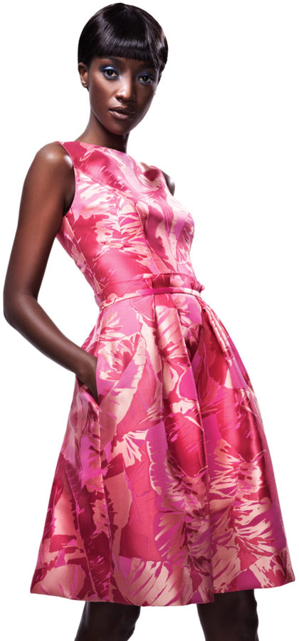 Theia Brocade Party Dress