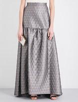Max Mara Elegante Nico metallic-jacquard maxi skirt