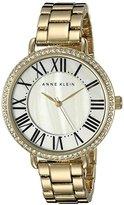 Anne Klein Women's AK/2190MPGB Swarovski Crystal-Accented Gold-Tone Bracelet Watch