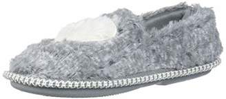 Dearfoams Baby Kids Toddlers Fuzzy Closed Back with Heart Detail Slipper