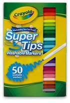 Crayola Supertips Markers Washable 50ct