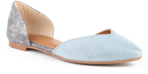 BC Footwear Light Blue & Bronze Up All Night Flat